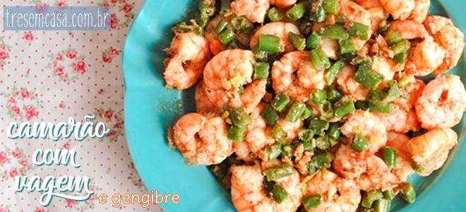 camarão gengibre receita
