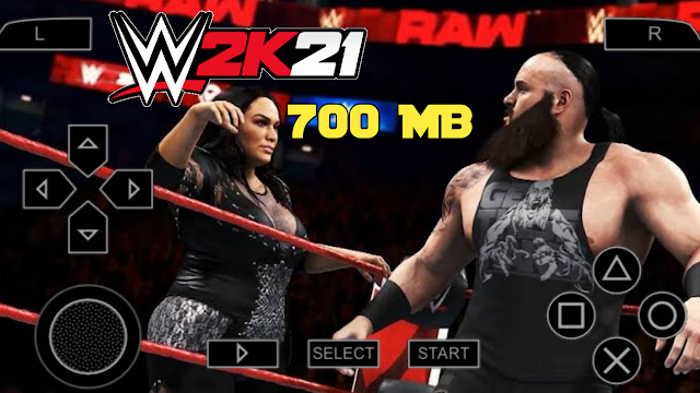 700 MB WWE 2K21 PSP MOD ISO File Highly Compressed File 