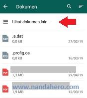 pilih dokumen lain untuk mencari file png di android
