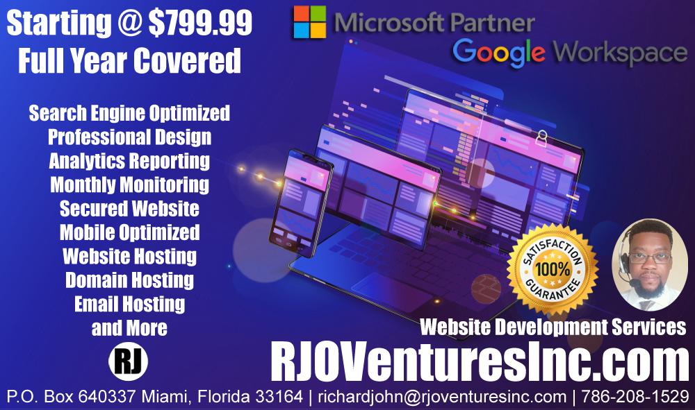 Website Development Services by RJO Ventures, Inc. (www.RJOVenturesInc.com)