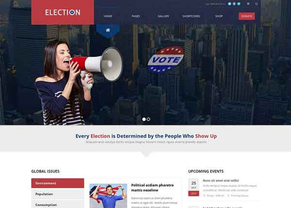 Election  Best Political WordPress Themes 2020
