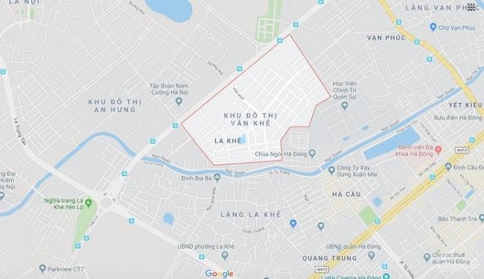 Vị trí khu đô thị Văn Khê ở đâu