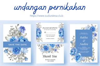desain sertifikat dan undangan pernikahan premium gratis terbaru untuk usaha percetakan di desa