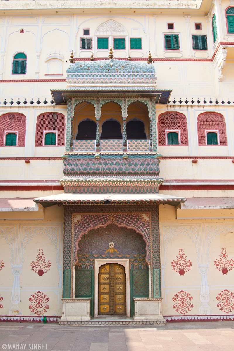 Rose Gate at The City Palace, Jaipur.