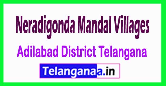 Neradigonda Mandal and Villages in Adilabad District Telangana