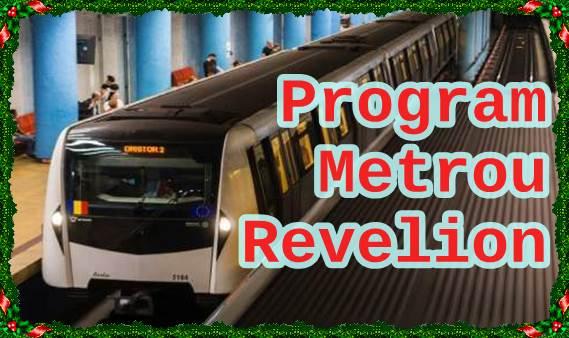 program metrou revelion 2019 31 decembrie 2018 1 ianuarie 2019