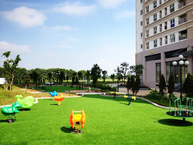Khuôn viên xanh tại Xuân Mai Sparks Tower