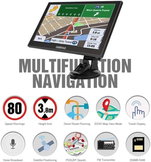 CARRVAS 9 inch GPS Navigation for Truck Car