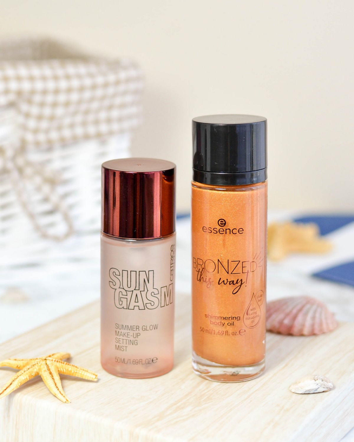 Catrice Sungasm LE Setting Spray and Essence Bronzed This Way! Shimmering Body Oil