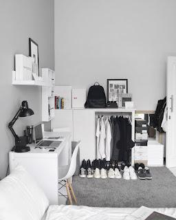 Dekorasi kamar Tidur Cowok White