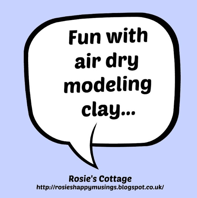Fun with air dry modelling clay: experimenting with a new crafting hobby.