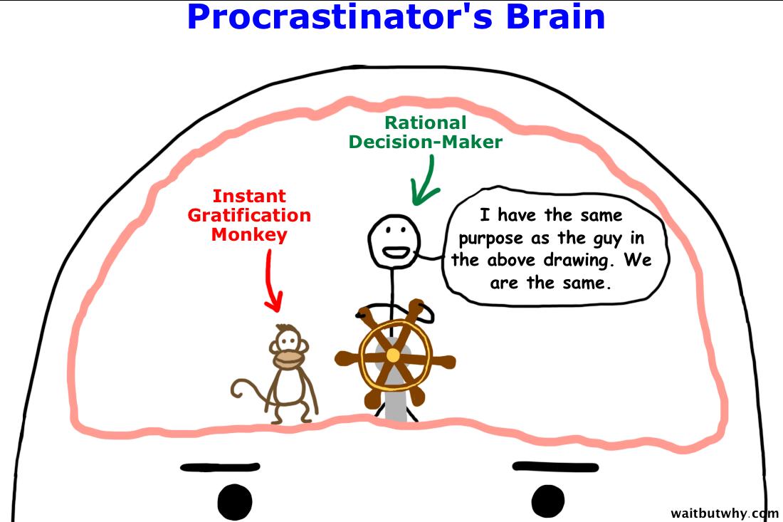 Procrastination monkey