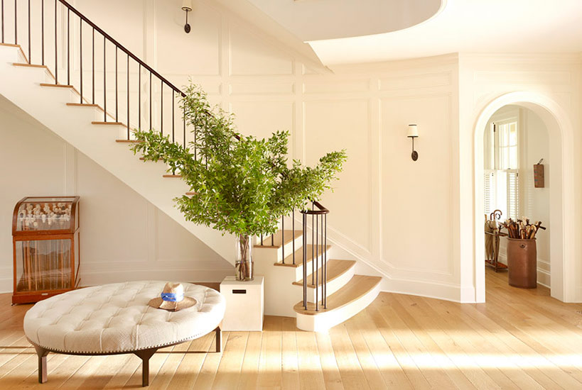 Magnificent entry in Meadowmere Southampton home by Carrier and Company