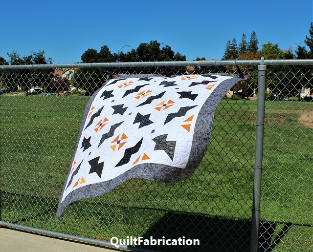 Just Batty quilt taking flight by QuiltFabrication