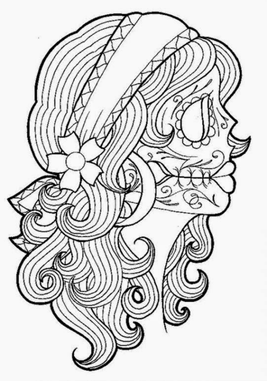 Day of the dead coloring sheets free coloring sheet for Day of dead coloring pages