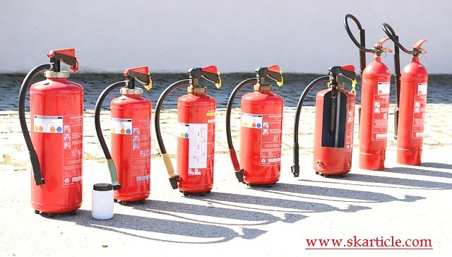 types of fire extinguisher in hindi