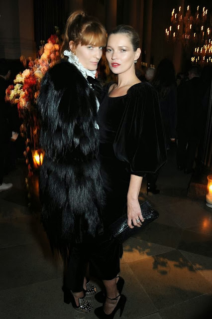Florence Welch and Kate Moss at the Alexander McQueen