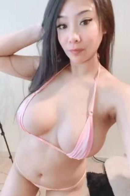 Asian babe big nipple sexy bikini