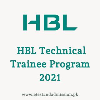 HBL Technical Trainee Program 2021