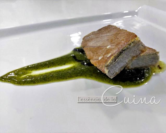 Ventresca de Tonyina, Salsa Pesto, Cuina Casolana, cuinem peix, l'Essència de la Cuina, Blog de Cuina de la Sònia