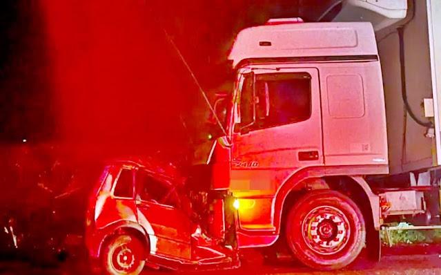 Paraná: Três pessoas morreram em um grave acidente registrado na PR-495 na noite de ontem