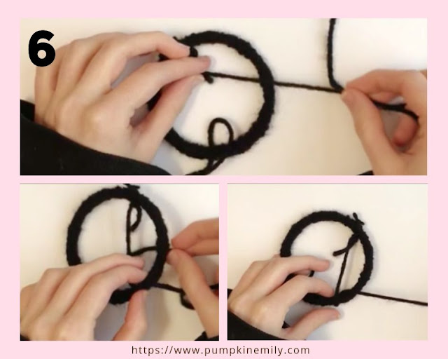 The making of a dreamcatcher using a bangle