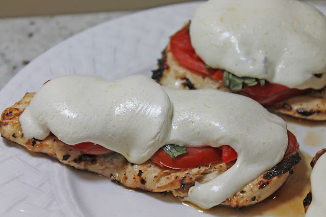 A fresh tasting Caprese Grilled Chicken