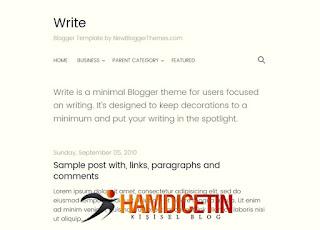 Write Blogger Teması