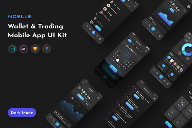 Noelle Wallet %2526 C currency Mobile App UI Kit..