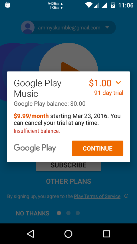Google Music $1 for 3 Months