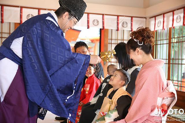 豊中稲荷神社で七五三出張撮影