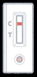 抗体検査の結果のイラスト(陰性)
