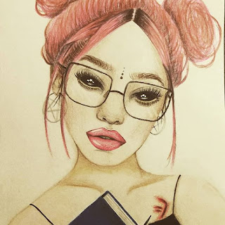drawings of girls 👉 beautiful drawings 2019