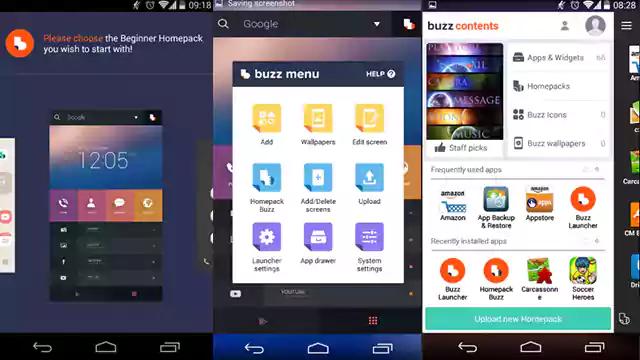 تحميل تطبيق Buzz Launcher تغيير ثيمات اجهزة اندرويد