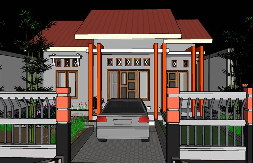 Gambar teras rumah minimalis paliang modern bagian depan