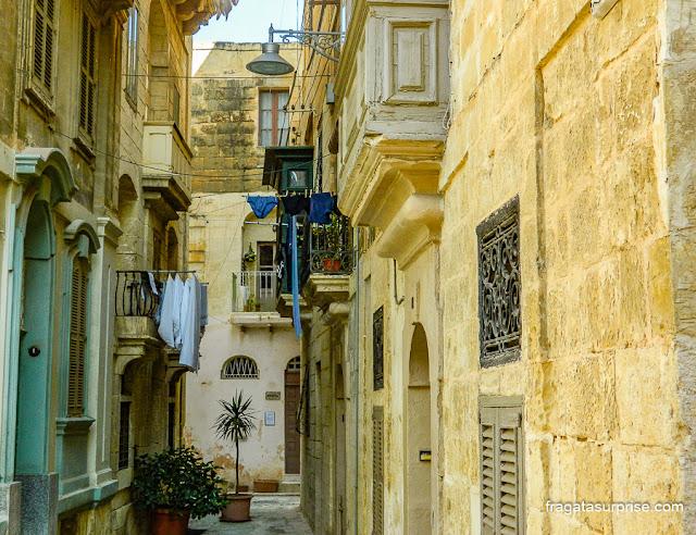 Balcões malteses em Birgù (La Vittoriosa), Malta
