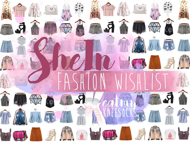 I've done a lot of fashion hauls and reviews for SheIn lately, but it's been a while since my last SheIn wishlist. So today I've compiled some of my favorite tops, dresses, shoes, bags, skirts, and more from SheIn, including tons of summer-ready styles and a selection of affordable styles, many of which are $20 or less! - Eat My Knee Socks / Mimchikimchi