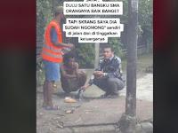 Terharu! Pria Ini Makan Bareng Teman Lama yang ODGJ di Jalanan dan Ditinggal Keluarga