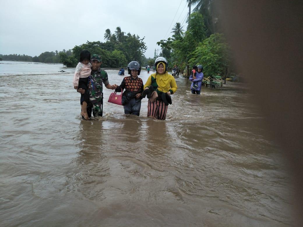 Air Luapan Walanae Kembali Rendam Desa Lompulle