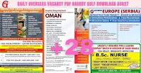 Daily Overseas Vacancy PDF Naukry Gulf Download Aug27
