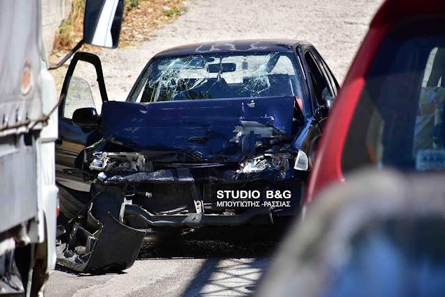 Τροχαίο ατύχημα με δυο τραυματίες στο Ναύπλιο από μετωπική σύγκρουση