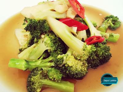Brokoli goreng sos tiram