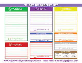 Use this printable grocery list to jot down everything you need to complete your meal planning for the week. #21dayfix #mealplanning #cleaneating
