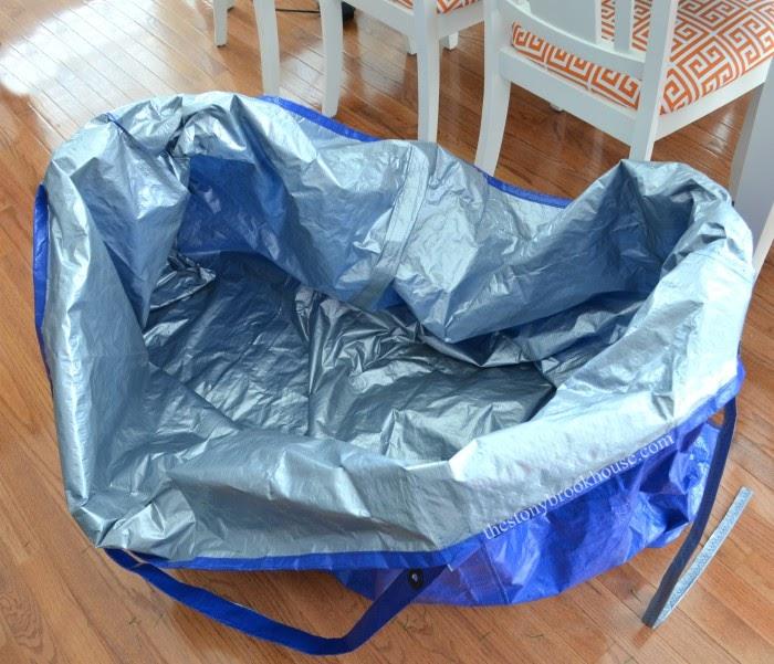 Large tarp bag for Christmas tree
