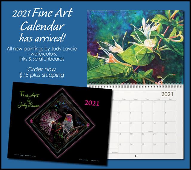 2021 Fine Art Calendar by Judy Lavoie