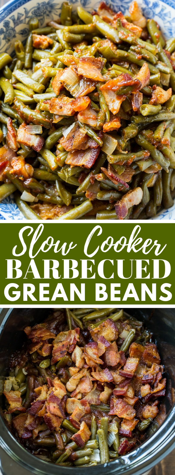 Slow Cooker Barbecued Green Beans #ketodiet #healthy