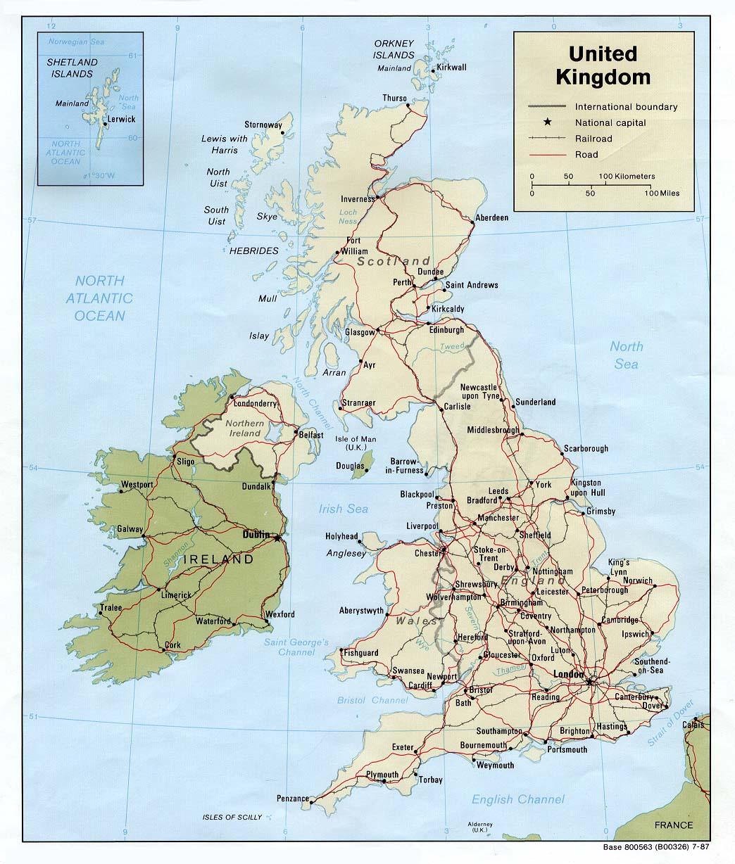 Reino Unido | Mapas Geográficos do Reino Unido