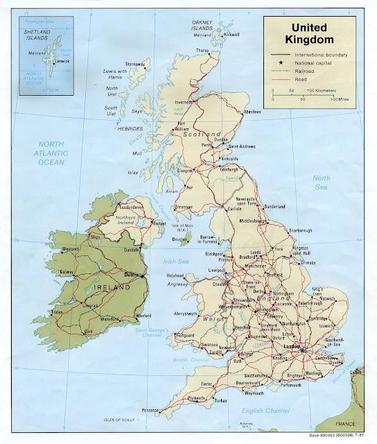 United Kingdom Geographical Maps Of United Kingdom Global