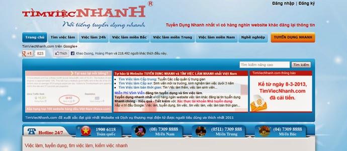 mẫu thiết kế website tìm việc 1