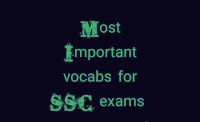 Most Important  vocabulary /vocabs for SSC CGL 2019